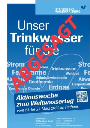 Weltwassertag - Absage